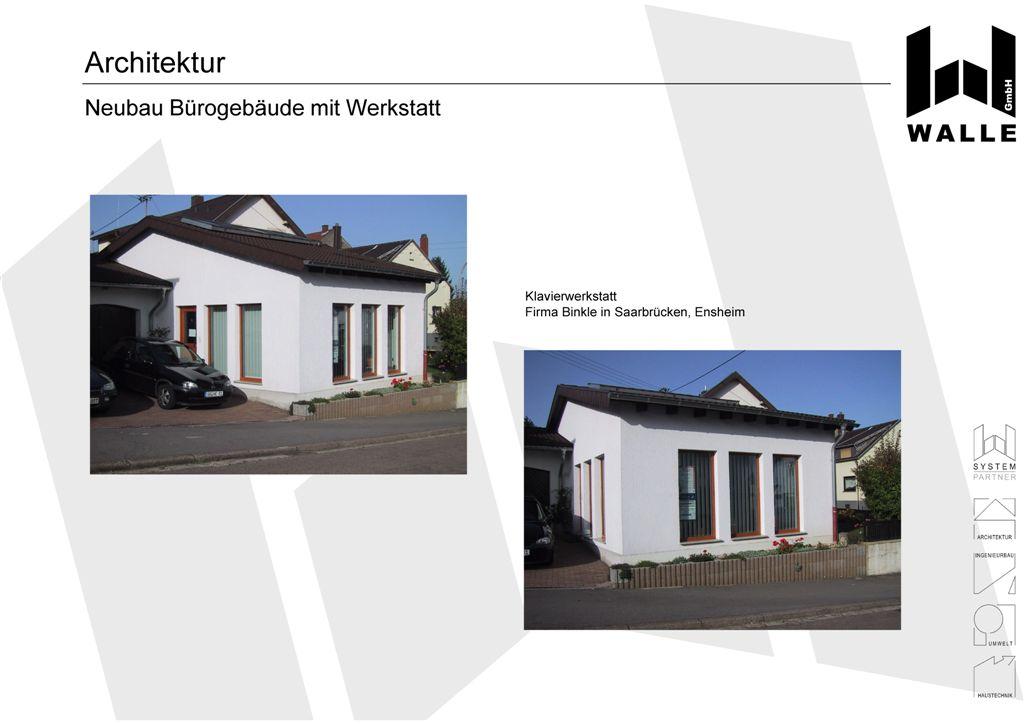 Referenzen architektur gewerbebau firma binkle ensheim for Architektur werkstatt